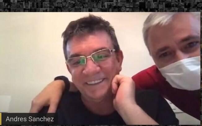 Andrés Sanchez e Tiago Nunes