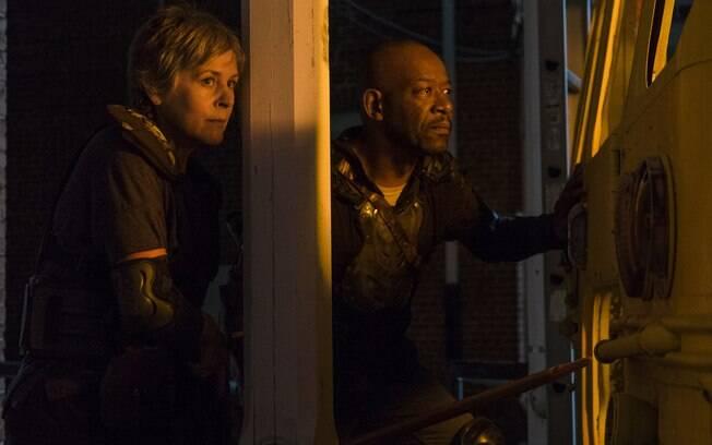 Carol e Morgan partem no resgate de Ezekiel