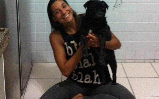 Nadadora Joanna Maranhão é mais uma a ter um  cão de estimação