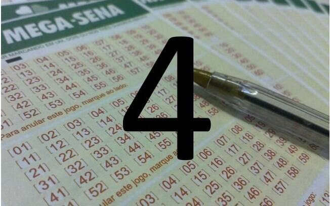 O número 4 é o vice-colocado entre as dezenas mais sorteadas: já saiu 192 vezes