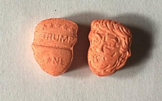 Pílulas de ecstasy com rosto de Donald Trump estão se tornando muito populares no Reino Unido