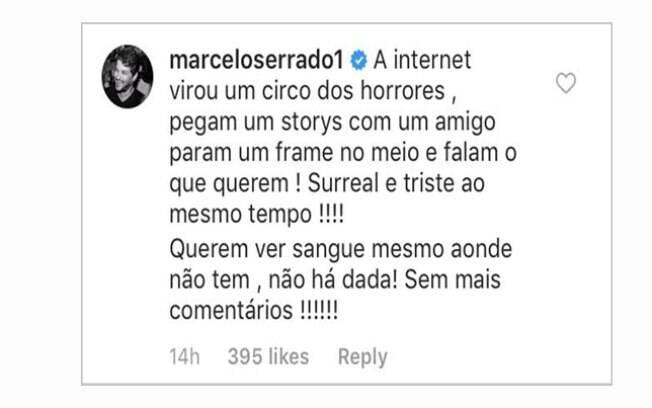 Resposta de Marcelo Serrado