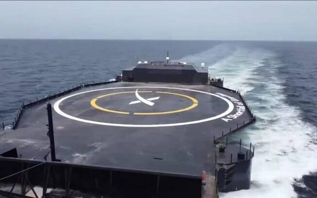 Elon Musk revela novo navio drone da SpaceX