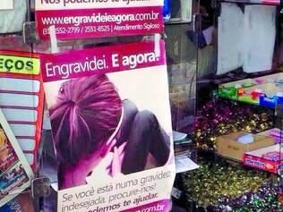 Propaganda de aborto? Cartaz em padaria de Contagem levantou suspeitas