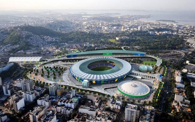 O Maracanã terá as cerimônias de abertura e  encerramento, além de jogos do torneio olímpico de  futebol