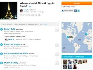 Usuários podem seguir listas do Foursquare