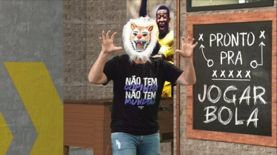 Neto vestiu máscara de tigre após derrota do Palmeiras na semifinal do Mundial de Clubes