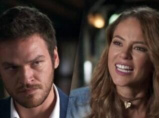 Melissa (Paolla Oliveira) e Pedro (Emilio Dantas) mostram seu lado malvado