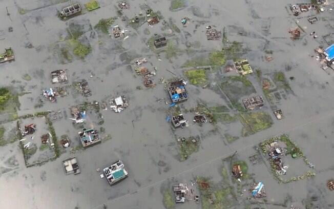 Grande parte de Moçambique está alagada e sem comunicações após a passagem do ciclone Idai no último dia 14