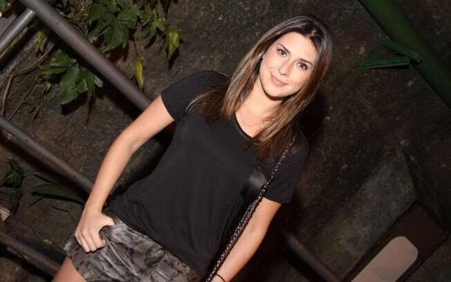 Fernanda Paes Leme participou da festa de Cilada.com