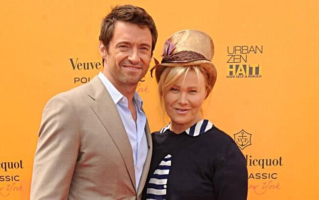 13 ANOS: Hugh Jackman (44 anos) e Deborra-Lee Furnes (57 anos). Foto: SplashNews