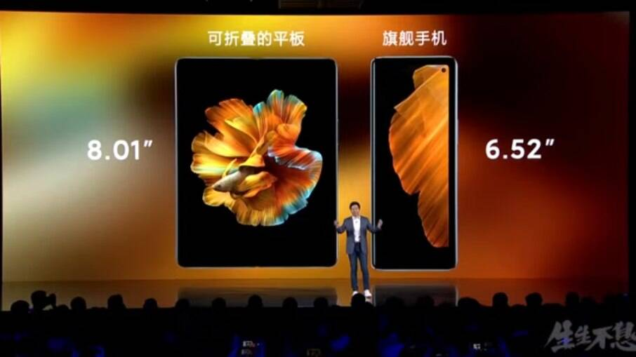 Mi Mix Foldable aberto e dobrado