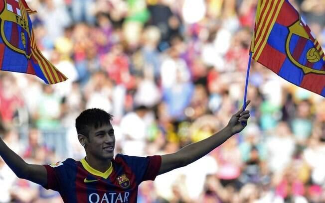 Neymar foi apresentado ao Barcelona em 2013