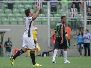Guilherme marcou o terceiro gol da vitória do Atlético contra o Coelho