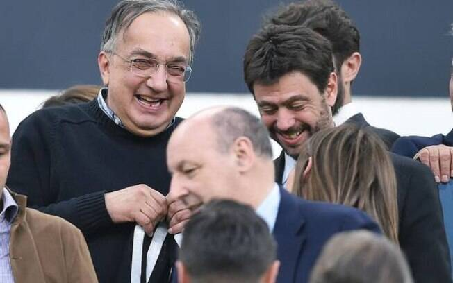Sergio Marchionne com o presidente da Juventus, Andrea Agnelli