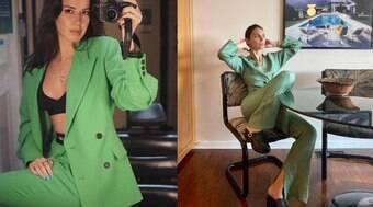 O verde está ocupando as ruas e looks das fashionistas