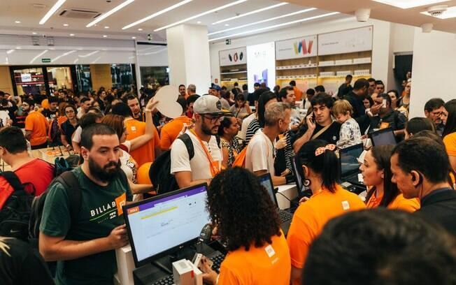 Inauguração da primeira loja da Xiaomi no Brasil, em junho deste ano, foi um sucesso
