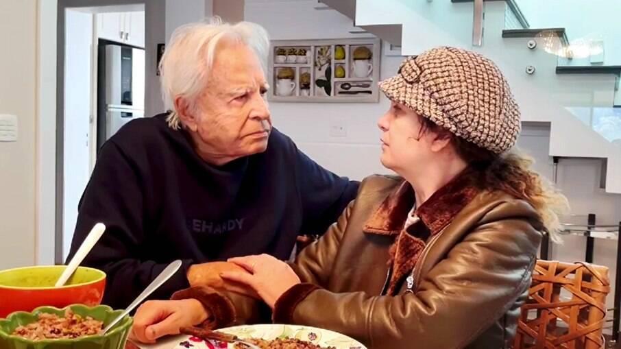 Cid Moreira e a esposa, Fátima Sampaio Moreira