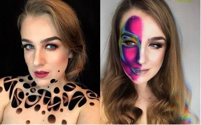 Para Toma, maquiagem artística ainda é um passatempo, mas ela sonha em trabalhar criando ilusões de ótica com arte