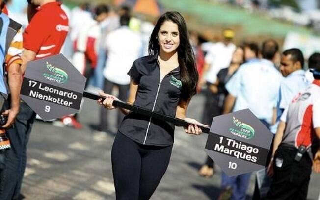 As musas da etapa deste domingo da Copa  Petrobras,em Brasília (DF)