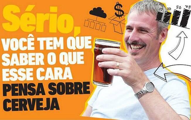 Stephen Beaumont veio ao Brasil para alguns seminários no começo deste mês