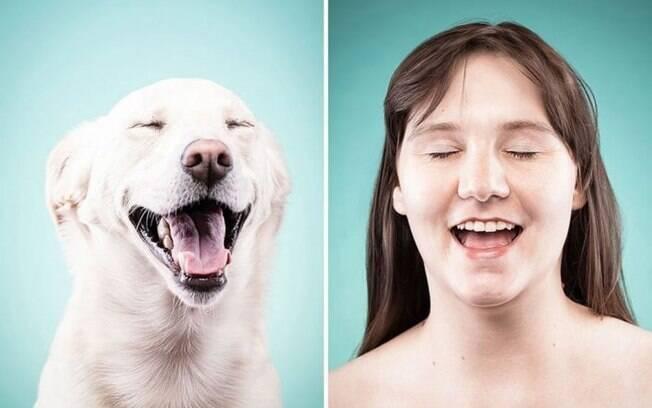 Cachorros imitando gestos dos donos