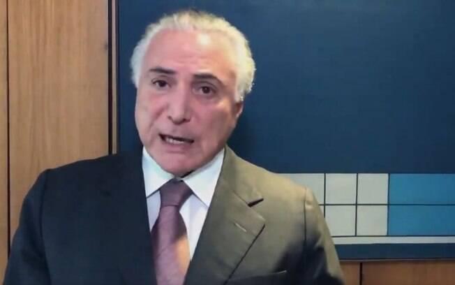 """Pelas redes sociais, Michel Temer afirmou que o ex-prefeito joão Doria já o elogiou """"inúmeras vezes"""""""