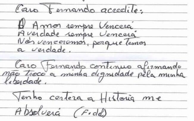 Lula terminou o texto com uma mensagem de esperança