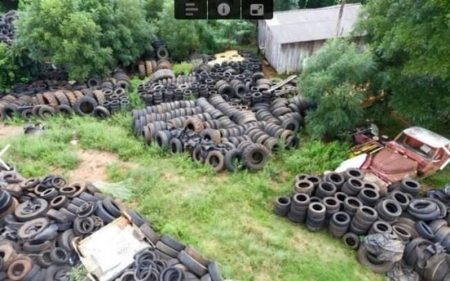 Depósito irregular de pneus em Ernestina (RS)
