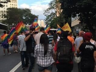Manifestantes marcharam pelo centro e chegaram a ocupar duas faixas da avenida Afonso Pena, sem grandes reflexos no trânsito