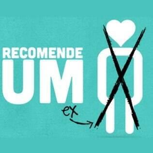 A logomarca do site 'Recomende um Ex'