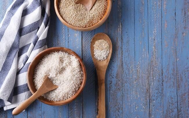 quinoa e arroz
