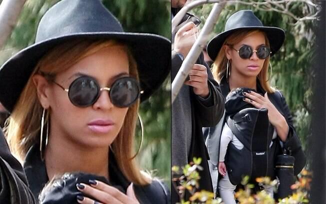 A cantora Beyoncé também é adepta do canguru
