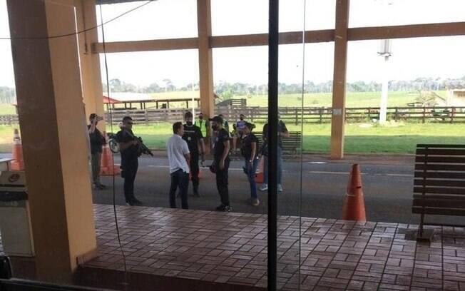 Homem foi preso em posto policial