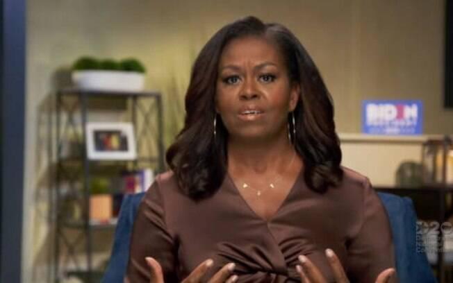 Michelle fez discurso durante transmissão pela internet
