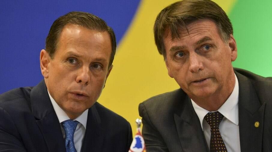 João Doria (PSDB) e Jair Bolsonaro (sem partido)
