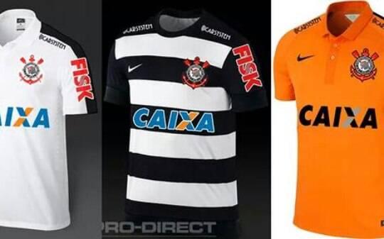 a6956b1649ac7 Terceira camisa do Corinthians será laranja e segunda terá listras  horizontais - Futebol - iG