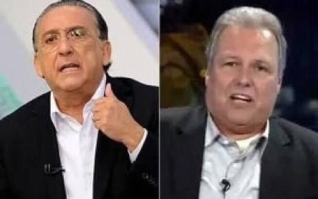 Galvão e Renato Maurício Prado discutiram ao vivo na televisão