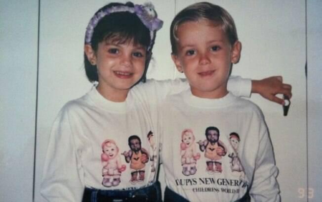 Sthefany Brito e Kayky Brito, quando tinham cinco e quatro anos respectivamente