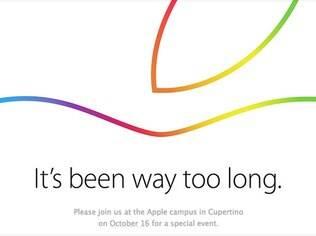 Convite enviado pela Apple para evento no dia 16