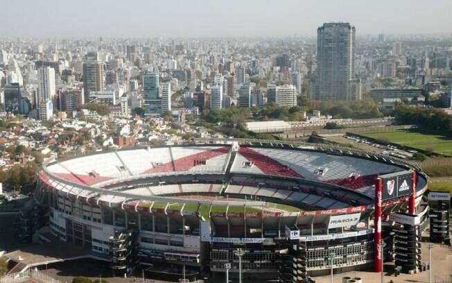 Estádio do River Plate, Monumental de Núñez, é o maior da Argentina