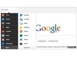 Nova aparência do Google elimina a barra superior preta