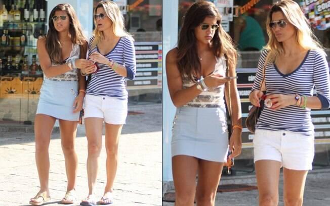 Flávia Alessandra e a filha passeiam na Tijuca, no Rio