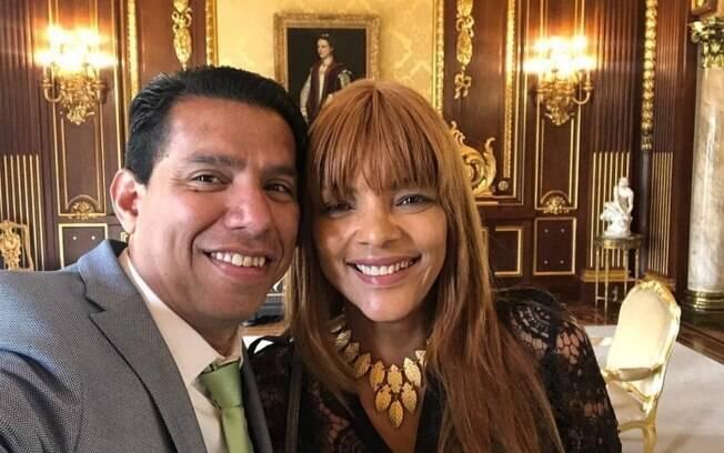 Deputada federal Flordelis e o marido, pastor Anderson do Carmo, que foi assassinado