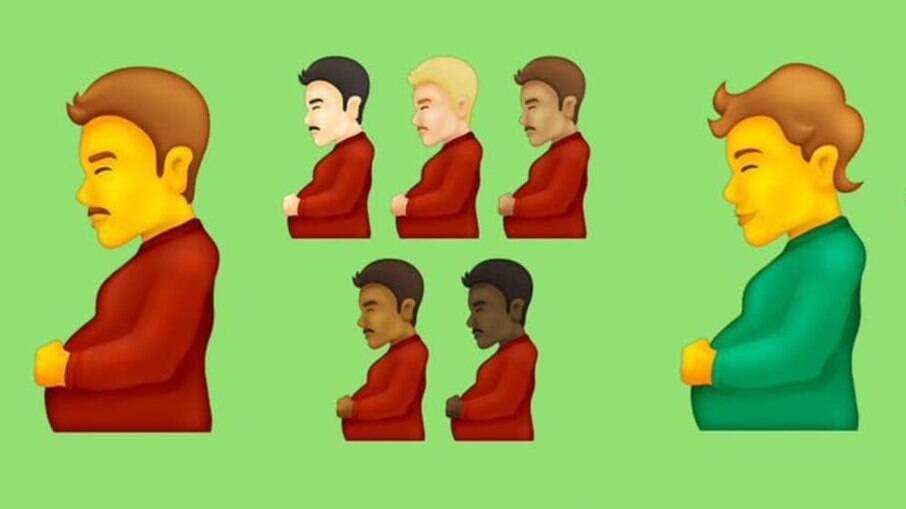 Atualização do Unicode Standard traz emojis de homens grávidos