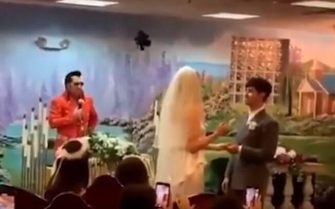 O casamento de Joe Jonas e Sophie Turner aconteceu em Las Vegas