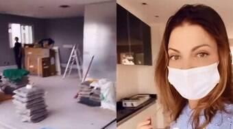 Sheila Mello mostra reforma de seu novo apartamento em São Paulo