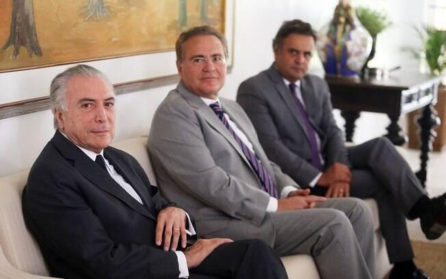 Reunião entre peemedebistas e Aécio ocorreu na residência oficial do Senado, em Brasília