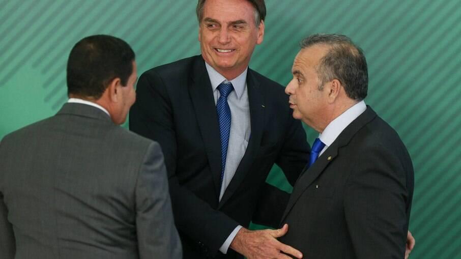 Rogério Marinho com o presidente da República, Jair Bolsonaro