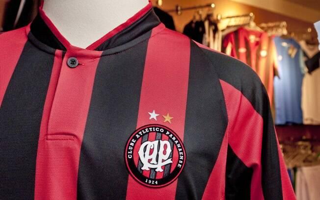 Detalhe do novo uniforme do Atlético-PR